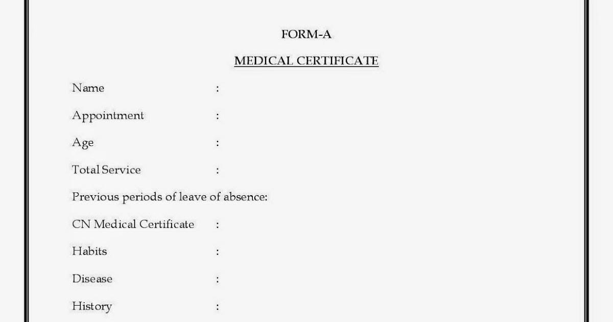 FormA for Medical Leave Telangana TSPSC Vidya Volunteers KGBV – Medical Leave Form