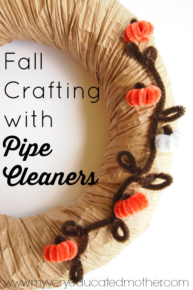 Pipe Cleaners aren't just for kids crafts! Use them to create fun fall decorations!