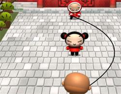 Juegos de pucca saltando la cuerda