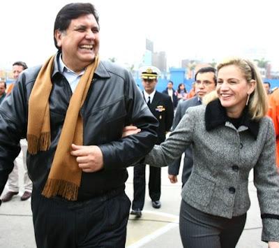 Pilar Nores con Alan García Pérez