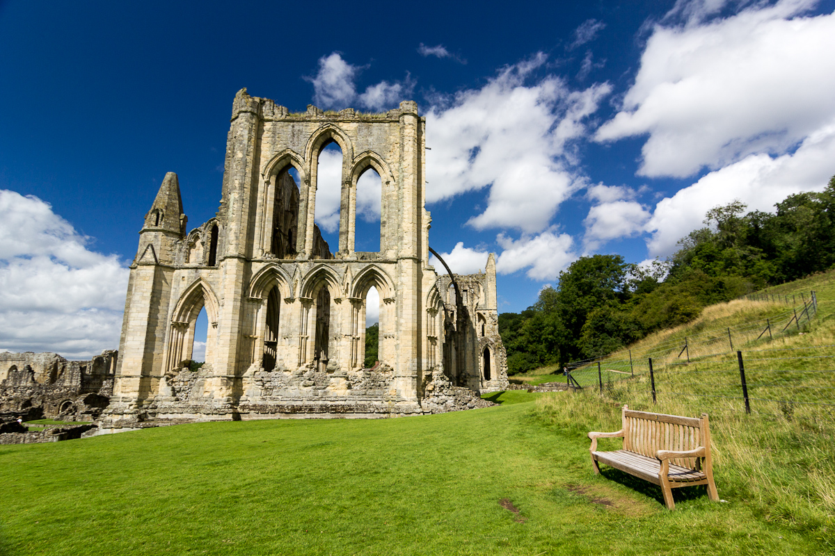 Rievaulx Abbey on a sunny day