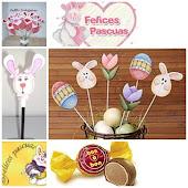 PASCUAS 2013... Vamos hacer un tipo piche para decorar macetas ..con una carita de conejo o huevo