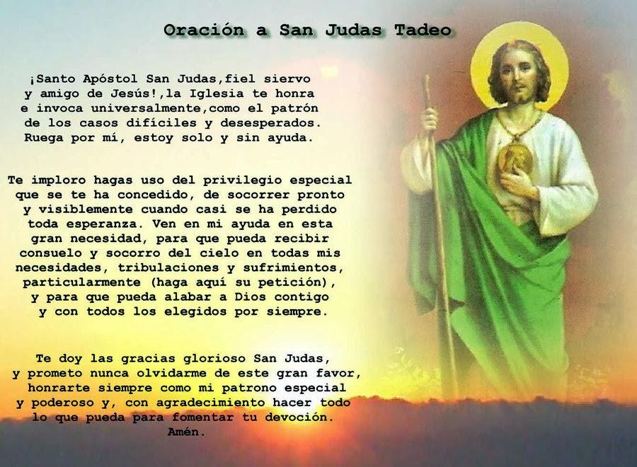 COMO PEDIR UN MILAGRO: ORACIONES A SAN JUDAS TADEO