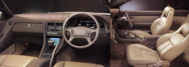 Toyota Soarer Z20 GZ20 MZ20 MZ21 JDM 7M-GTEU 1G-GTEU zdjęcia photos japoński sportowy samochód GT grand tourer coupe wnętrze interior