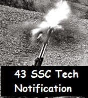 43rd SSC Tech course notification of Indian Army