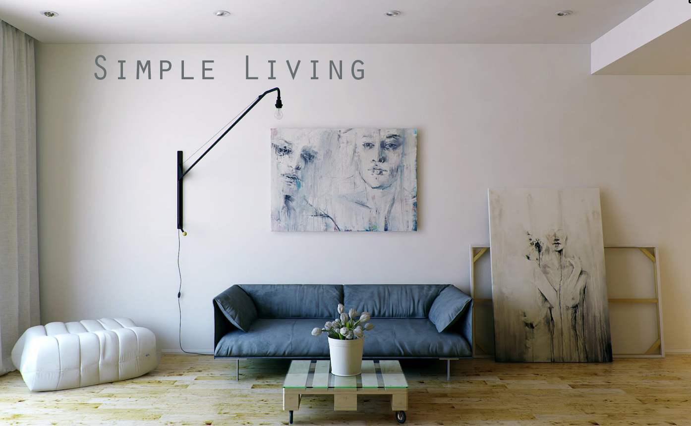 Twine simple living for Minimalist design for small living room