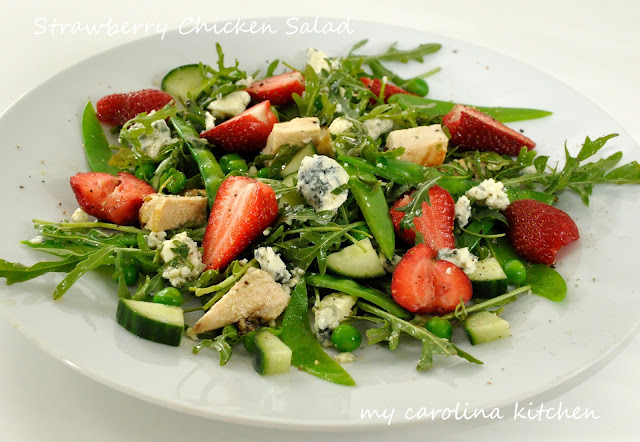 Strawberry Salad with Grilled Chicken