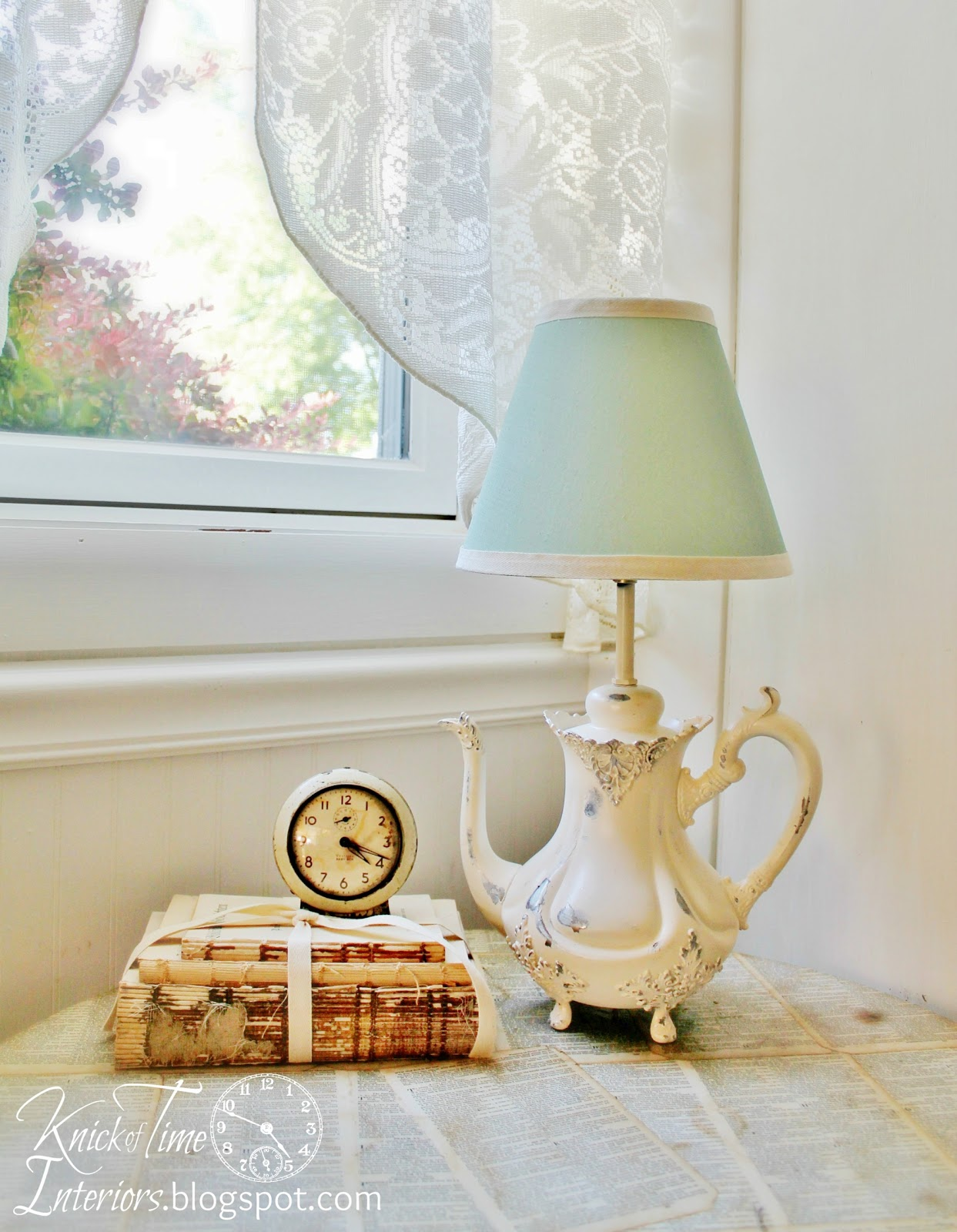 Teapot Lamp Makeover - Knick of Time