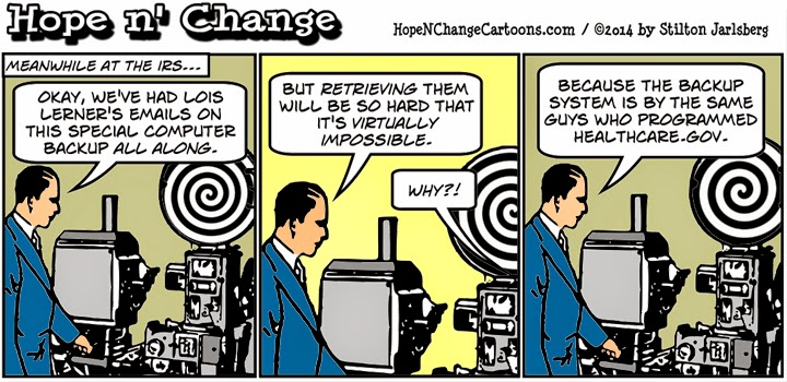 hope n' change, hope and change, obama, obama jokes, cartoon, humor, political, irs, scandal, lois lerner, blackberry, irs