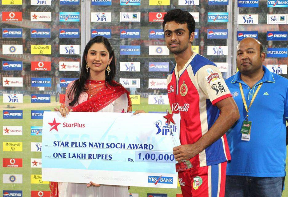 Jaidev-Unadkat-Star-Plus-Nayi-Soch-Award-DD-vs-RCB-IPL-2013