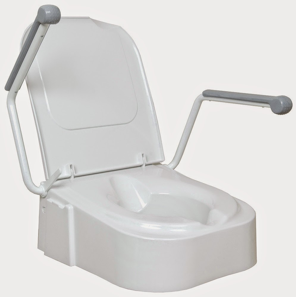 Design Raised Toilet Seat with Armrests
