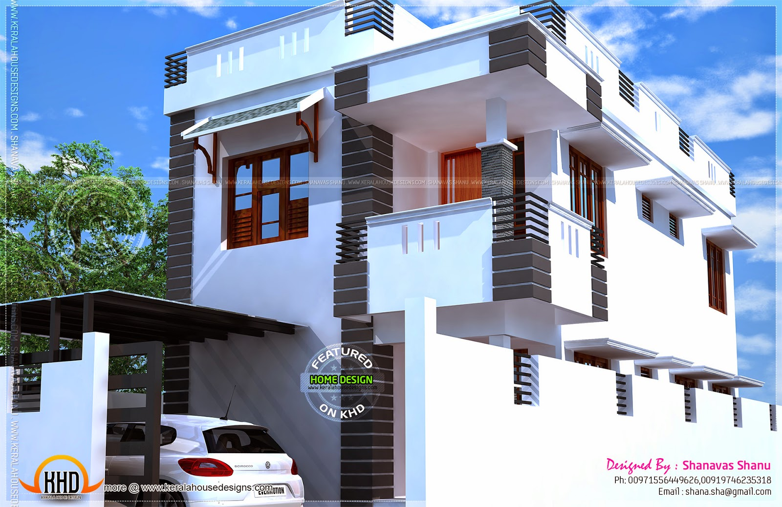 Small villa with floor plans - Kerala home design and floor plans