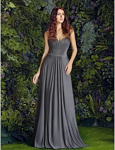 Vestido de Dama de Honor Voluptuoso
