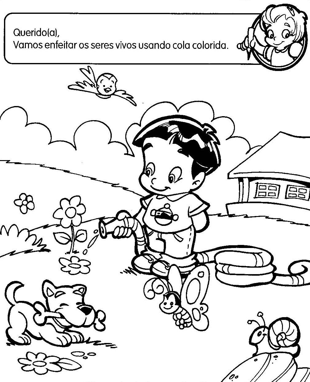 ATIVIDADES DE EDUCA    O INFANTIL SERES VIVOS     Cantinho Do