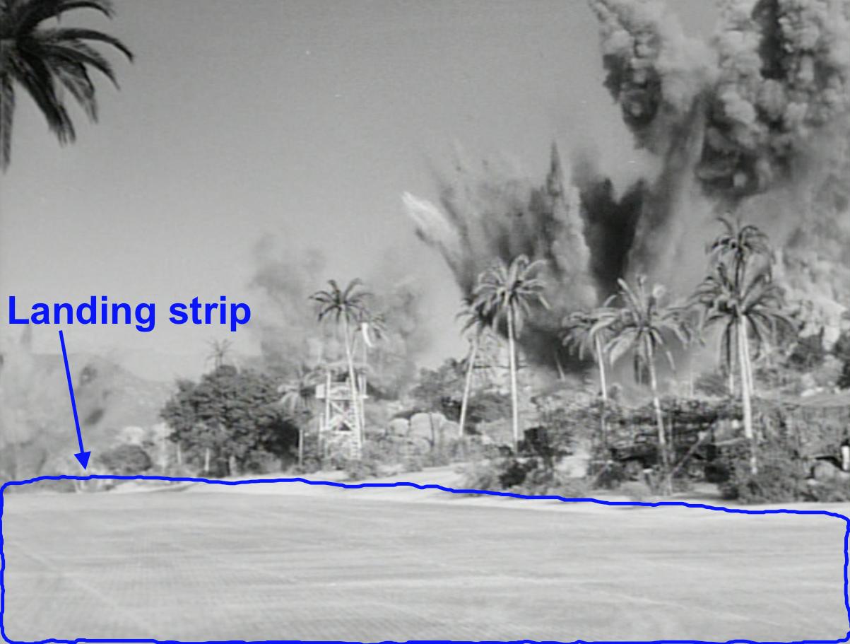 Frankly, Fake landing strip