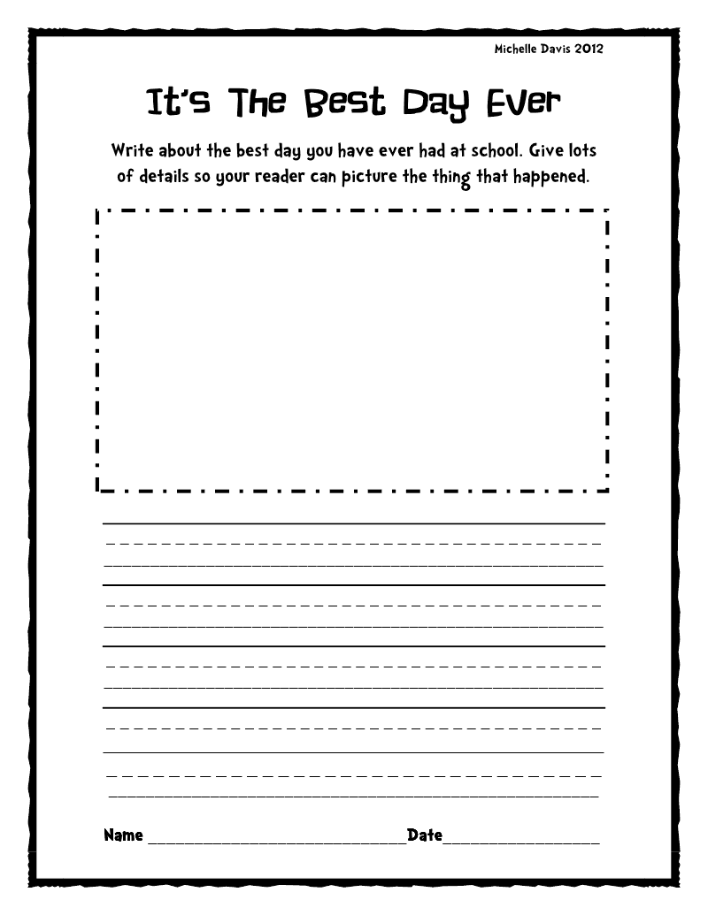 Fun writing assignments for 2nd grade