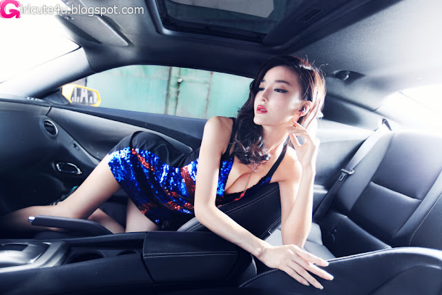 Li-Ying-Zhi-Blue-and-Red-Dress-02-very cute asian girl-girlcute4u.blogspot.com