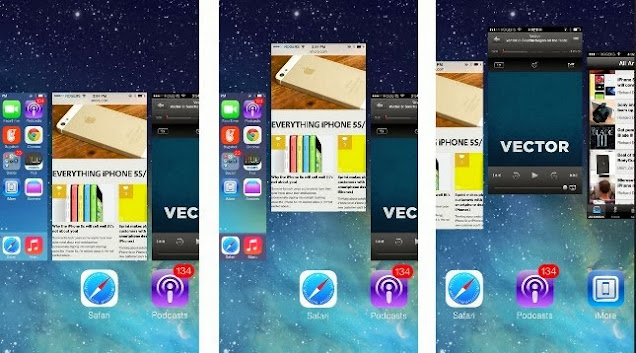 How to Close Apps on iOS7 for iPhone 4S/5S and iPad