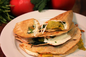 SQUASH BLOSSOMS QUESADILLAS