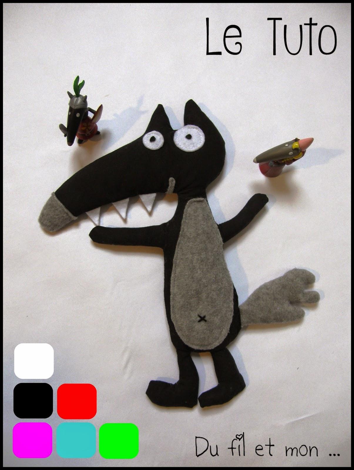 Doudou loup à coudre