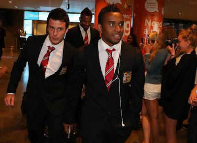 Anderson+Bebe+Henriquez Man Utd Tour 2013 Stockhlom