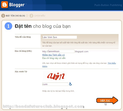 Đặt tên cho blog