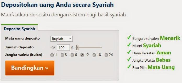 perbandingan bank deposito syariah