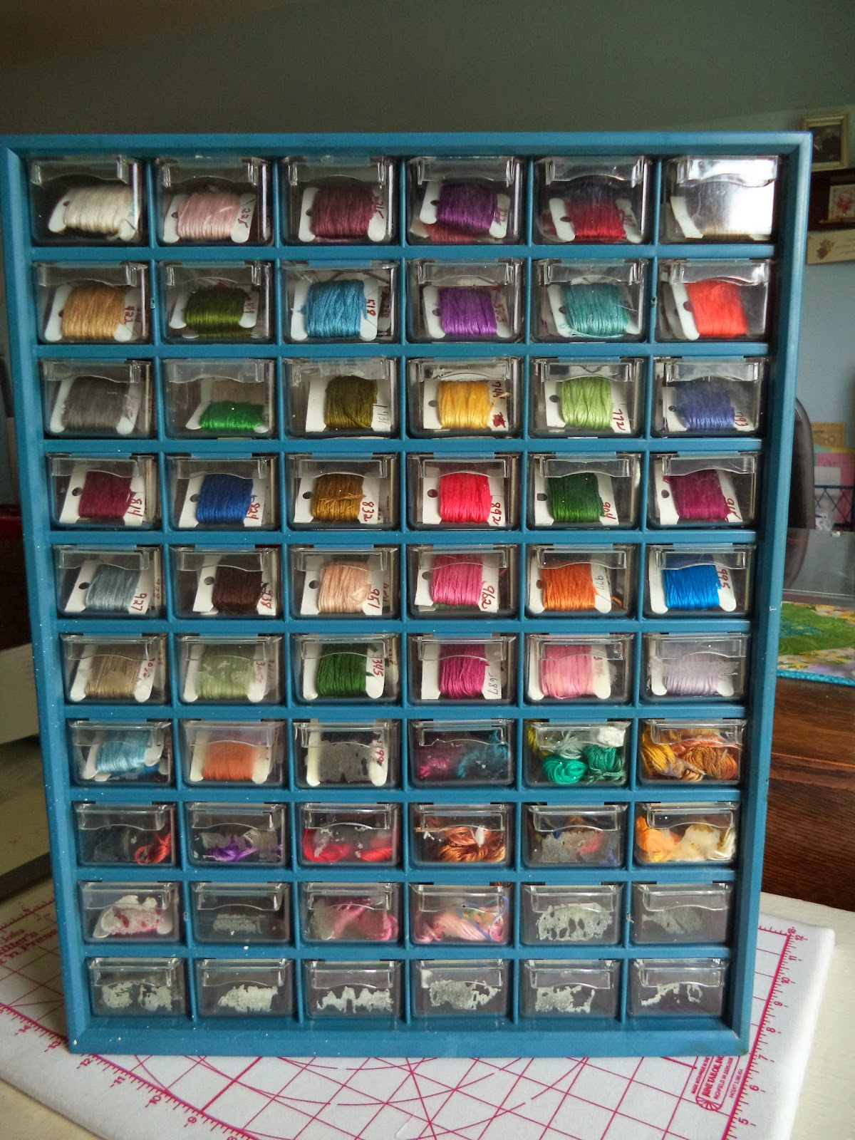 Life At Meadowcreek New Embroidery Floss Storage