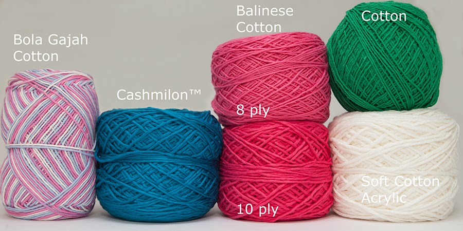 Crocheting Yarn Types : Types Of Crochet Yarn Several types of yarns