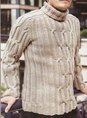 Suéter Hombre a Dos Agujas