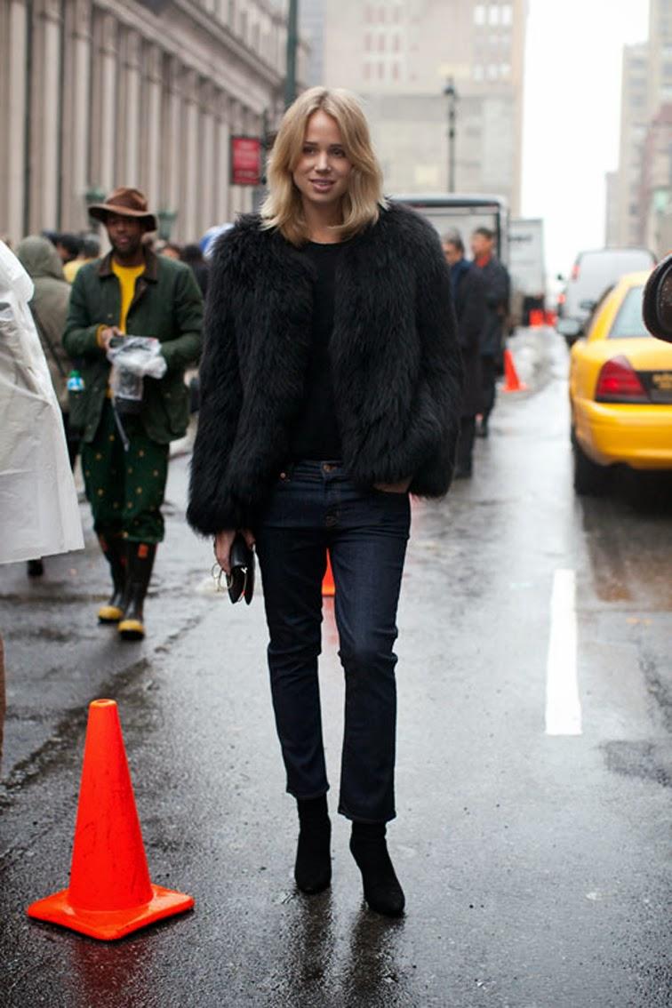 Elin Kling fur coat street style muse