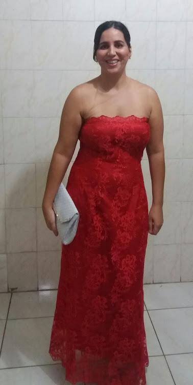 vestido longo de tule
