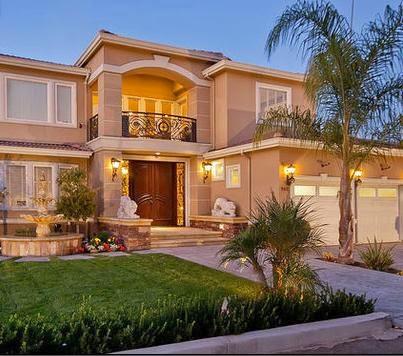 fachadas de casas frentes de casas lujosas