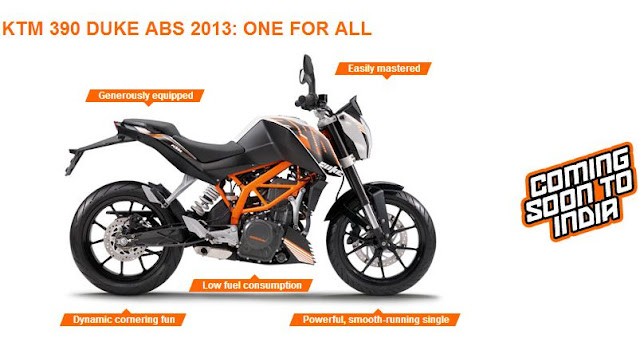 KTM 390 Duke with ABS