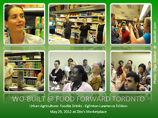 Urban Agriculture: Foodie Drinks Toronto Event May 29, 2012 at Zito's Marketplace, photos by Olga Goubar