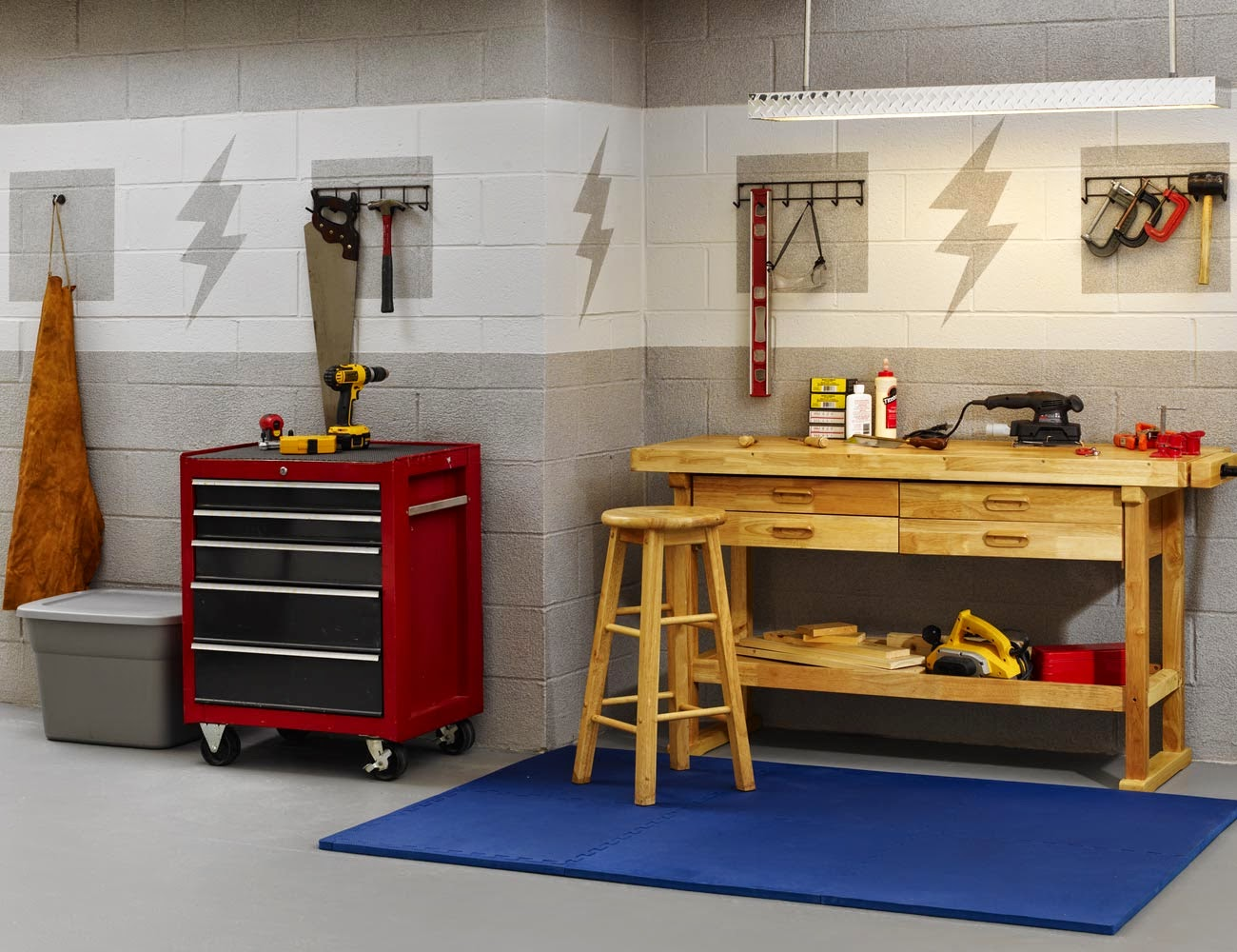 7 great design ideas for basement instant knowledge for Small basement workshop ideas