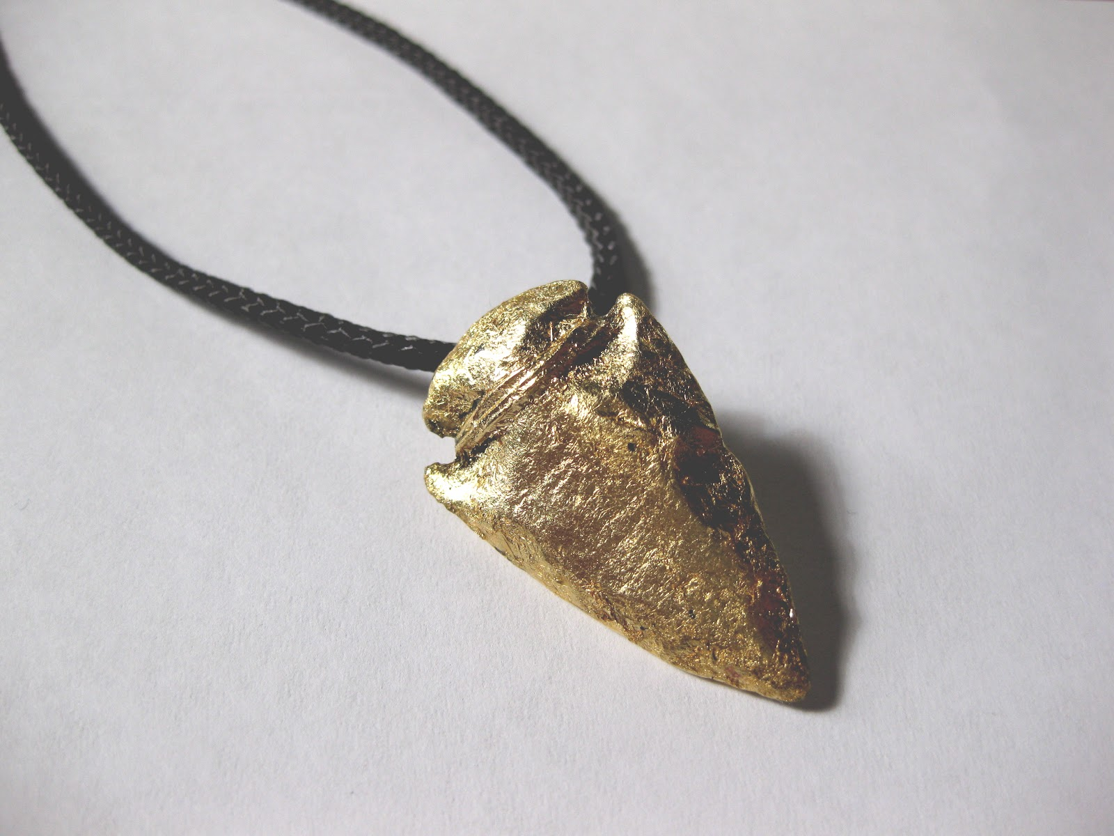 Thanks i made it diy gold arrowhead necklace diy gold arrowhead necklace aloadofball Image collections