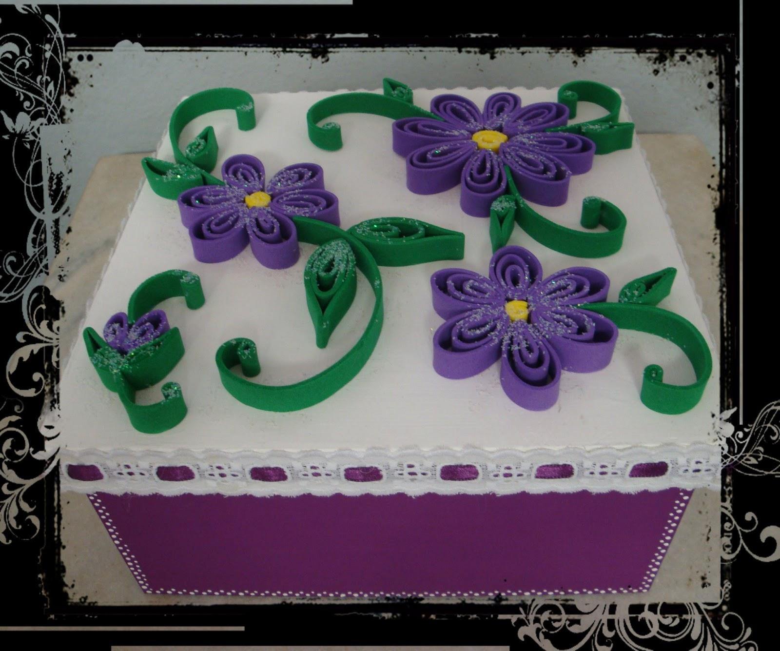 LU DECORAÇÕES: Caixa MDF decorada com Flor E.V.A. #18623C 1600x1335