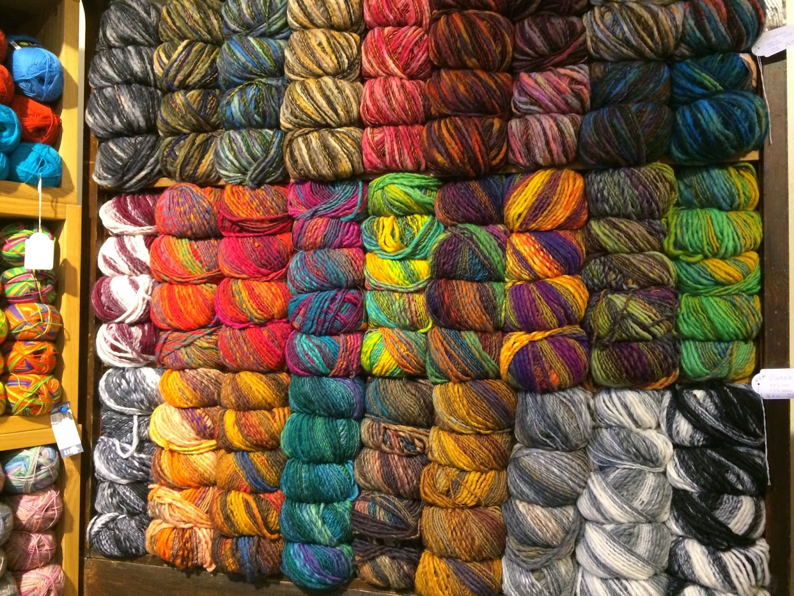 A Whole Wall Of U0027u0027OLYMPIAu0027u0027 Yarn....Iu0027m In Love With Several Of These  Colour Combos.
