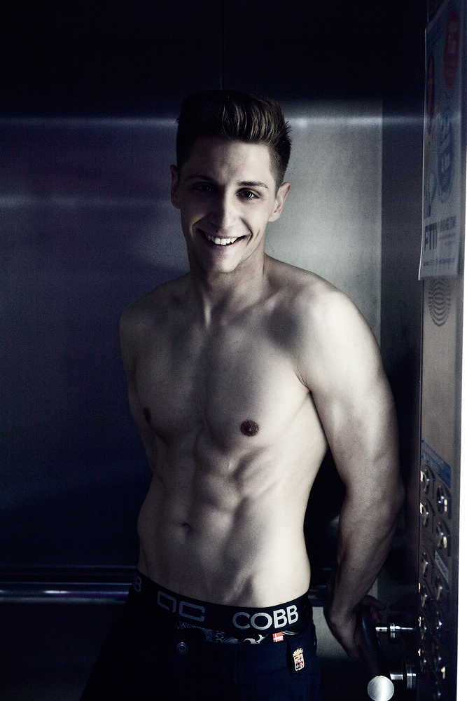 Sexy model Danon in Alexander COBB underwear