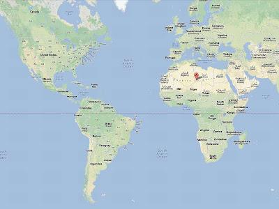 Mapa permite a comparação entre o tamanho do Saara com os Estados Unidos e o Brasil.