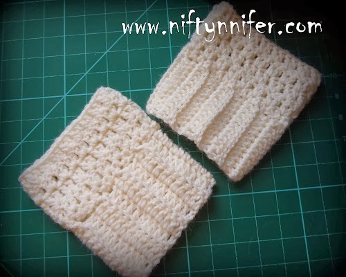 Niftynnifers Crochet Crafts Easy Boot Cuffs Free Crochet Pattern
