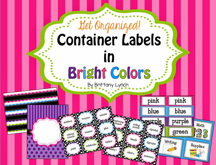 Container Labels in Bright Color