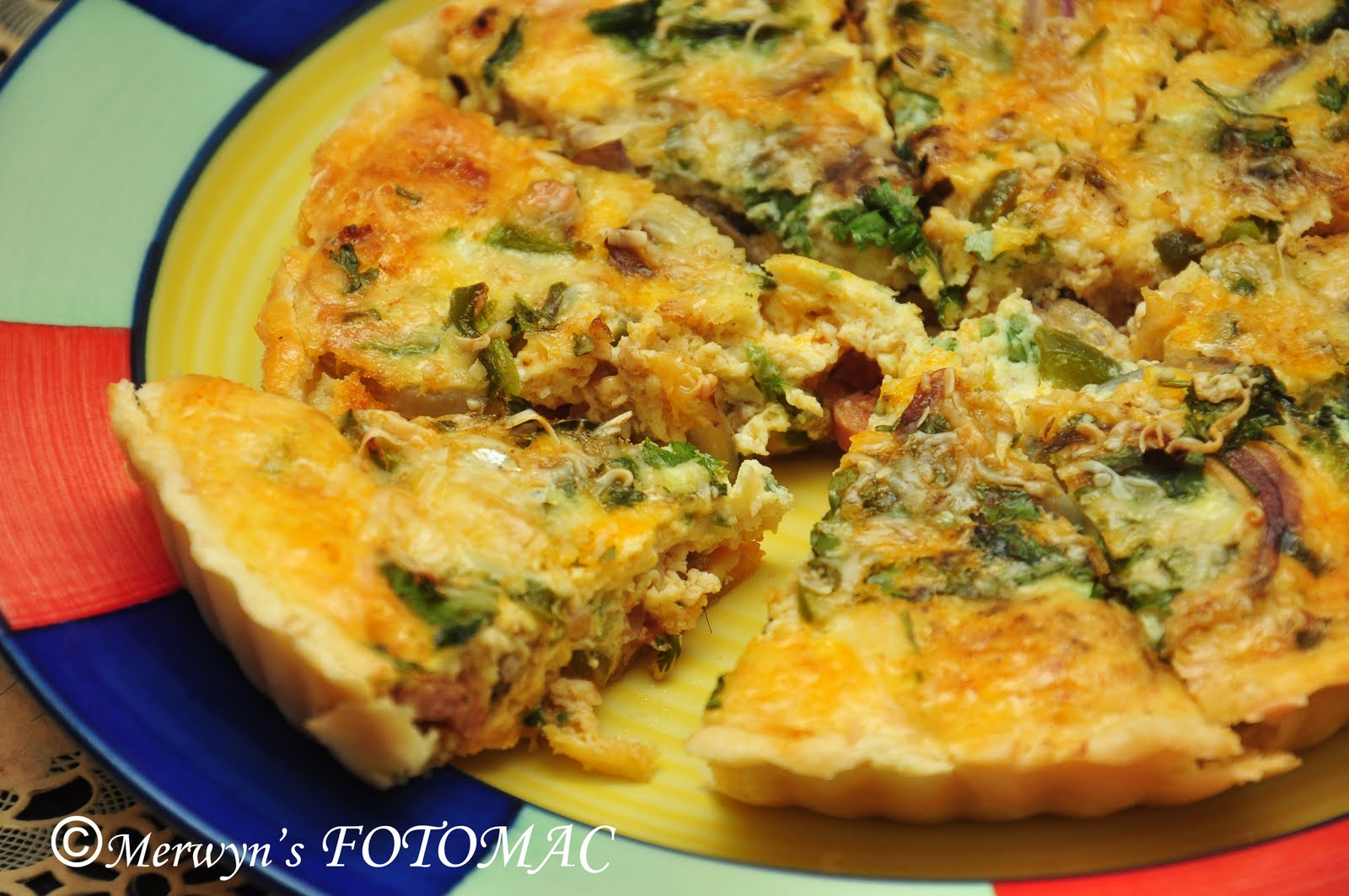 Chicken & Mushroom Quiche - Hilda's Touch Of Spice