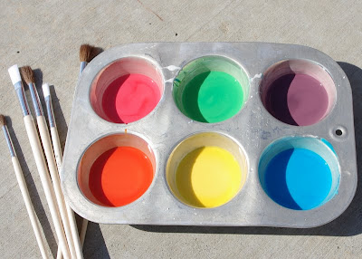 Homemade Sidewalk Chalk Paint blog image 1