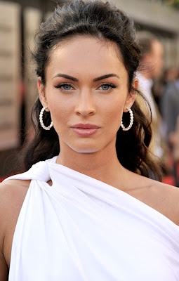 Megan Fox Diamond Hoop Earrings
