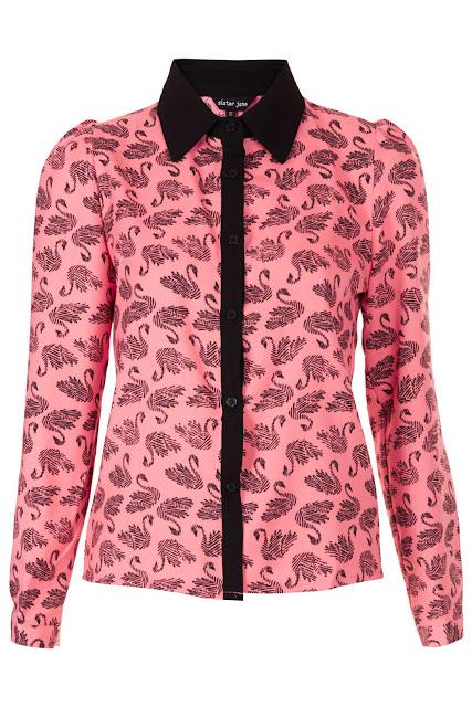 swan print shirt