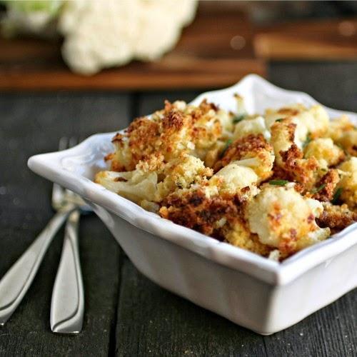 Oven Fried Crispy Cauliflower Poppers