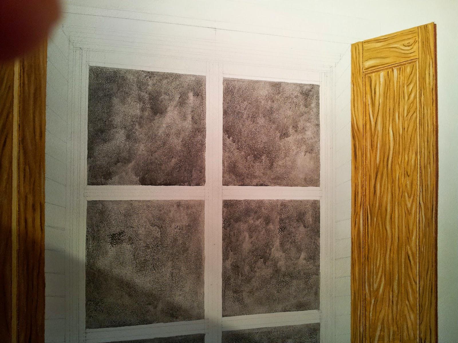 Roberta gandolfi trompe l 39 oeil finta finestra con ante for Finestra 4 ante