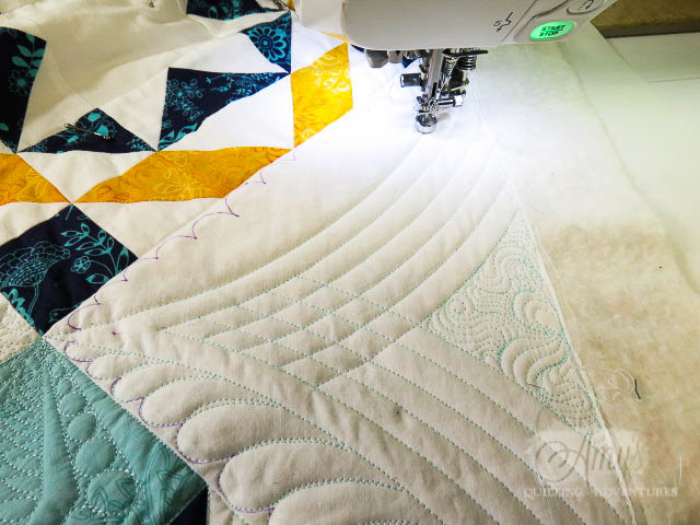 quilting with rulers partial crosshatching